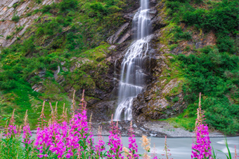 Alaska Waterfall Art